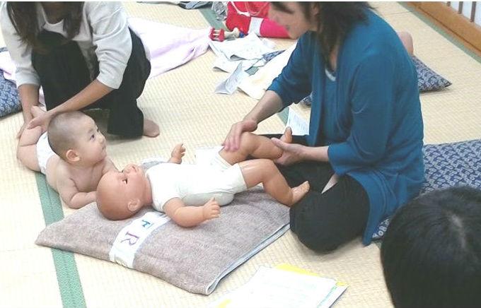 ウェルネスタッチケア養成講座 講師加倉井と赤ちゃん